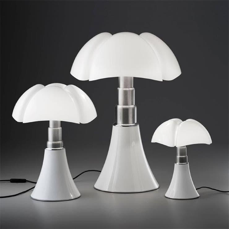 PIPISTRELLO MEDIUM Blanc Lampe Dimmer LED pied télescopique H50-62cm
