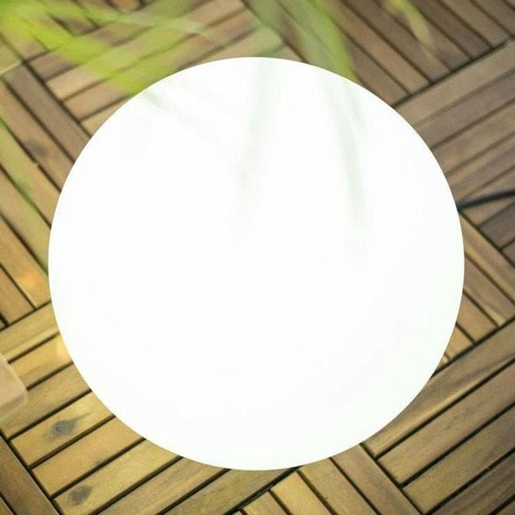 BULY Blanc Lampe baladeuse d'extérieur RGB solaire rechargeable Ø30cm