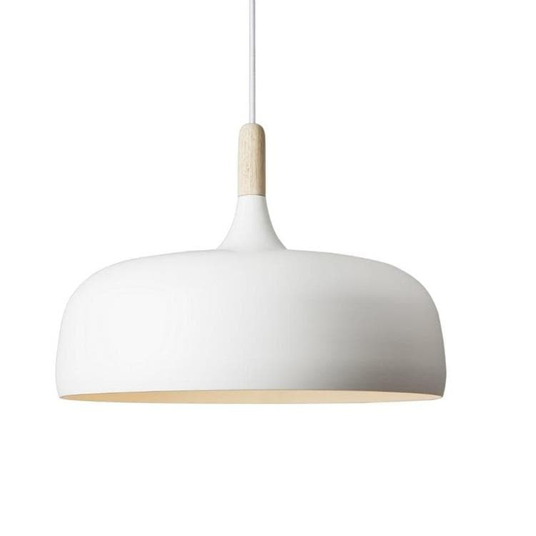 ACORN Blanc Suspension Bois Ø48cm