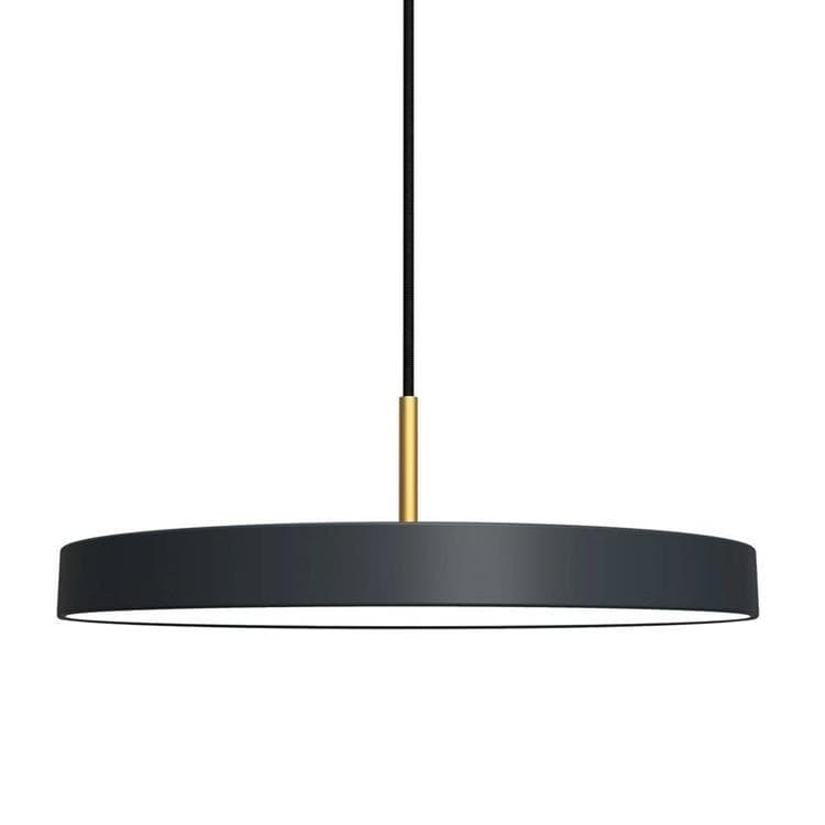 ASTERIA gris anthracite Suspension LED Acier/PMMA Ø43cm