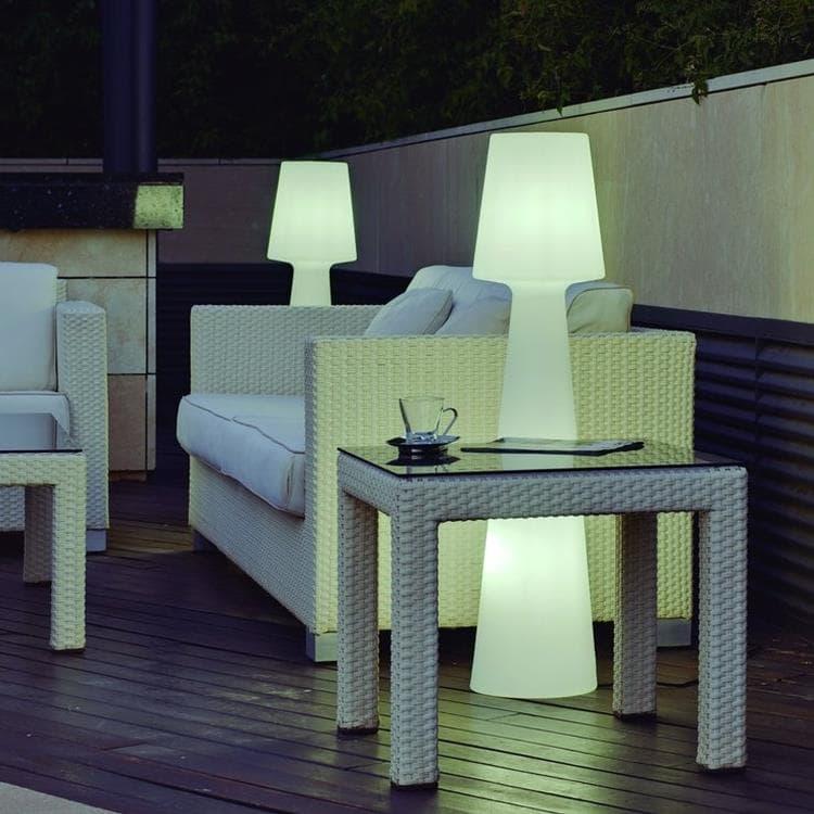 LOLA Blanc Lampadaire d'extérieur avec câble H110cm