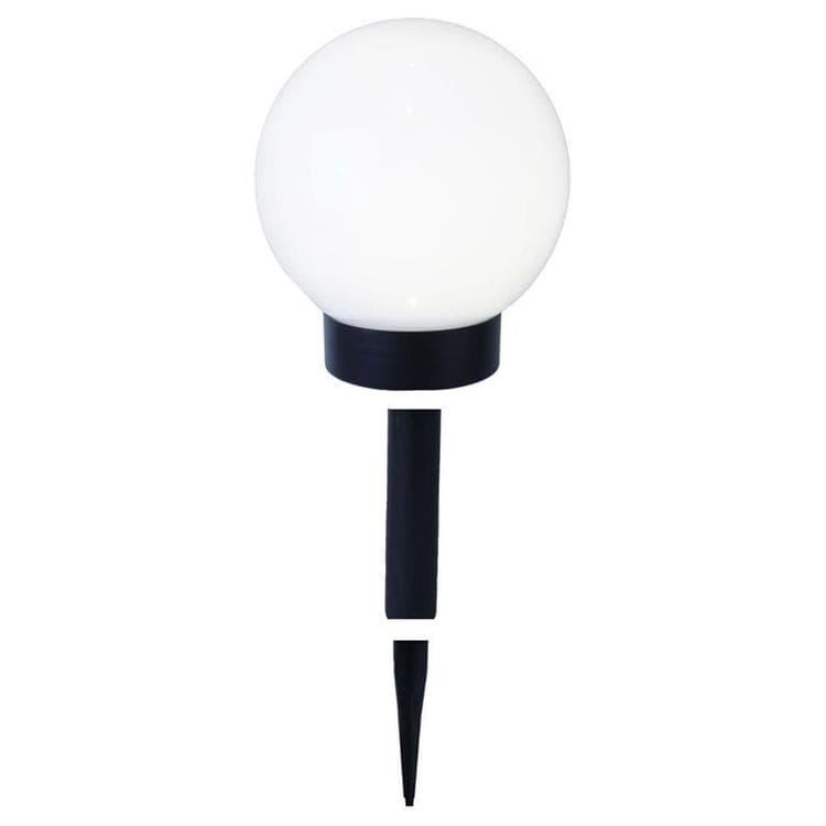 GLOBE LIGHT Blanc Boule lumineuse d'extérieur Solaire LED à piquer ou poser Ø15cm