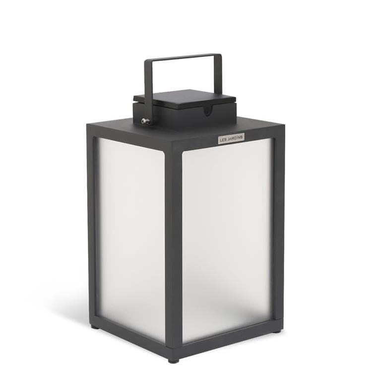 TINKA TRADITION gris Lampe d'extérieur LED rechargeable et solaire Aluminium H40cm