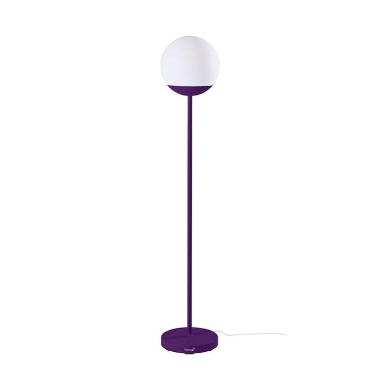 MOOON! aubergine Lampadaire d'extérieur LED H134cm sans fil avec bluetooth