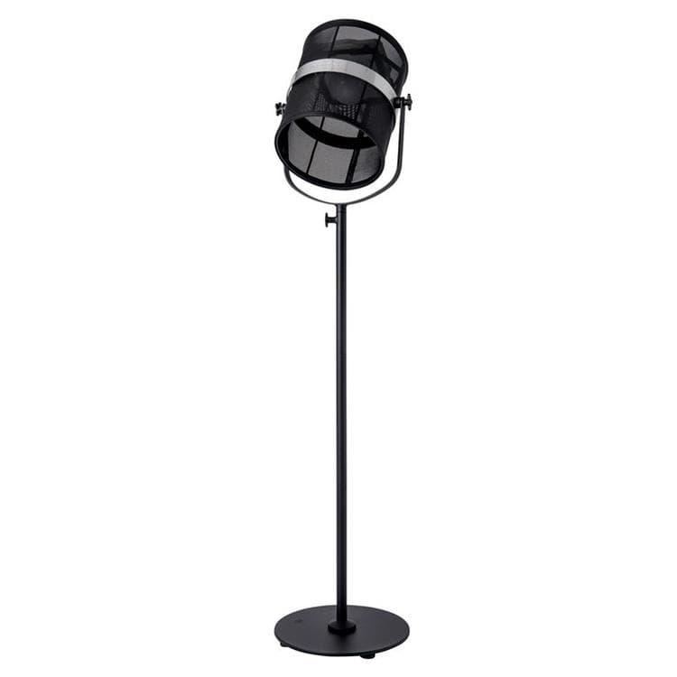 PARIS Noir Charbon/Noir Charbon Lampadaire d'extérieur LED solaire Aluminium/Textile outdoor H140-170cm