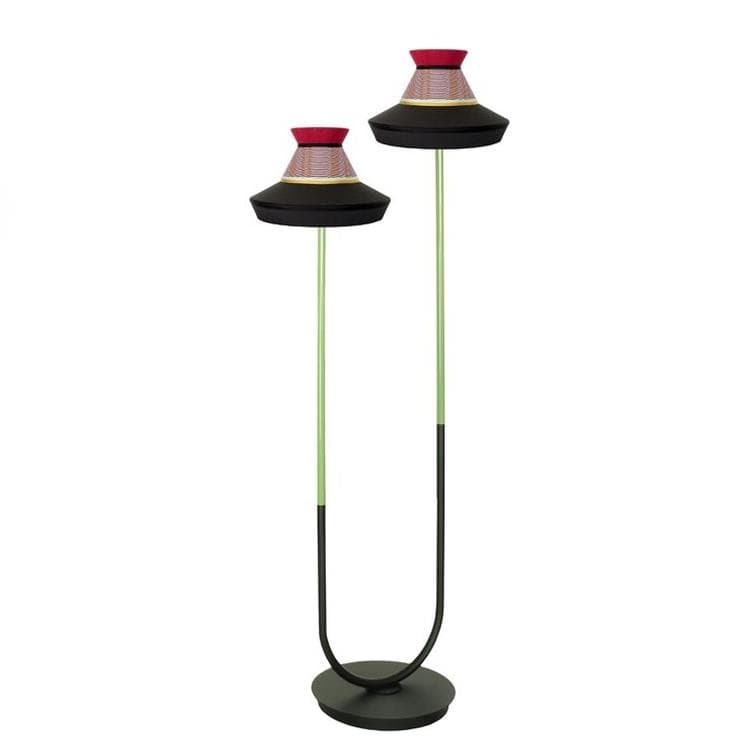CALYPSO GUADELOUPE Noir Lampadaire d'extérieur LED 2 lumières H188cm