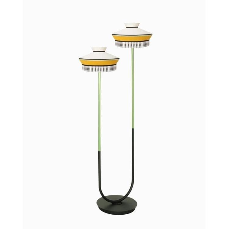 CALYPSO MARTINIQUE jaune moutarde Lampadaire d'extérieur LED 2 lumières H186cm