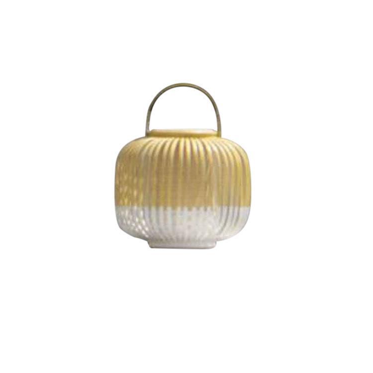TAKE A WAY XS Blanc Baladeuse d'extérieur LED sans fil Bambou H29cm