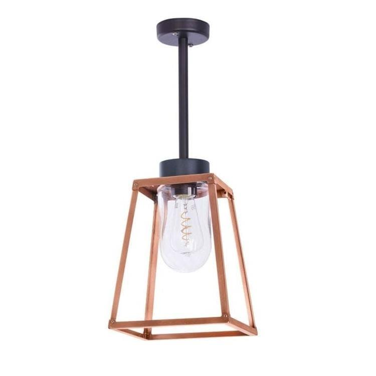 LAMPIOK Cuivre Suspension d'extérieur Métal/Verre H59cm