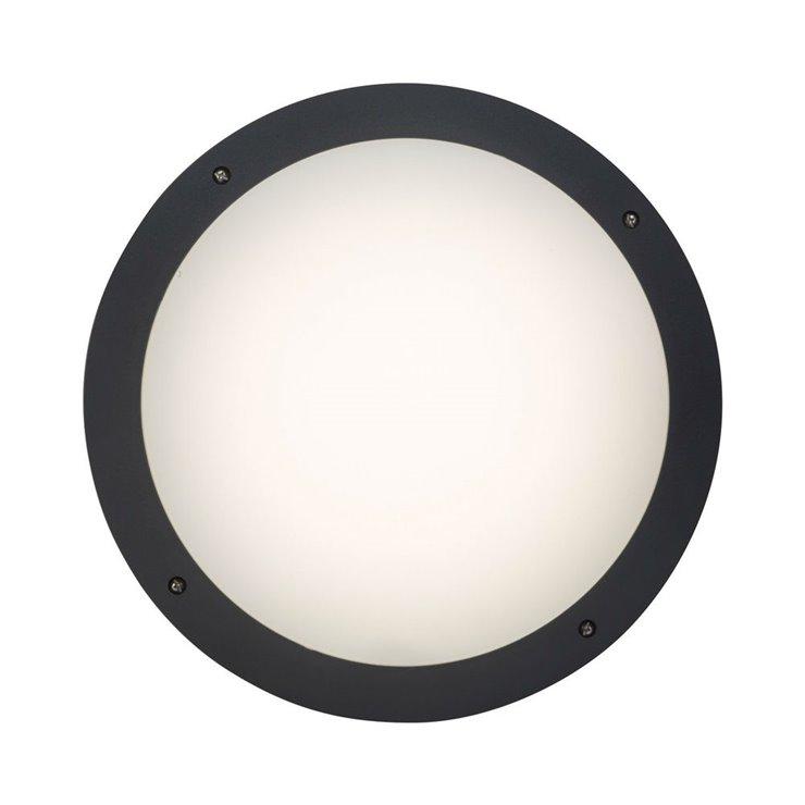 MEDWAY anthracite Applique ou Plafonnier d'extérieur LED avec télécommande ABS Ø30cm