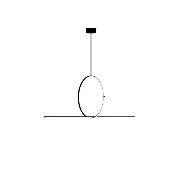 ARRANGEMENTS Noir Suspension LED Aluminium Medium Round Ø66,5cm
