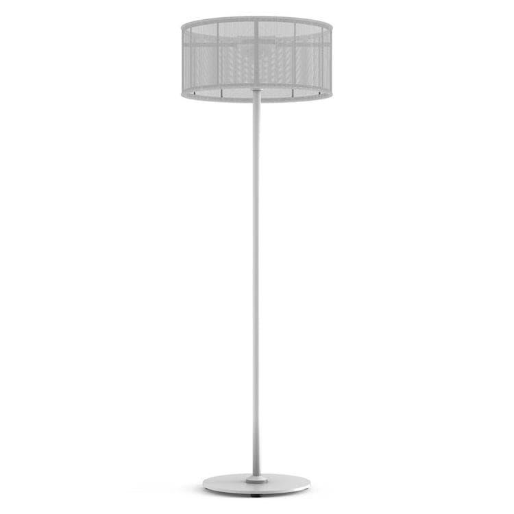 PADERE Blanc/Blanc Lampadaire d'extérieur LED solaire Aluminium/Textile H170cm