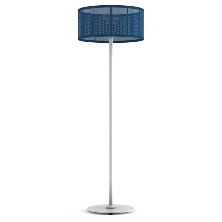 PADERE Blanc/Bleu bleuet Lampadaire d'extérieur LED solaire Aluminium/Textile H170cm