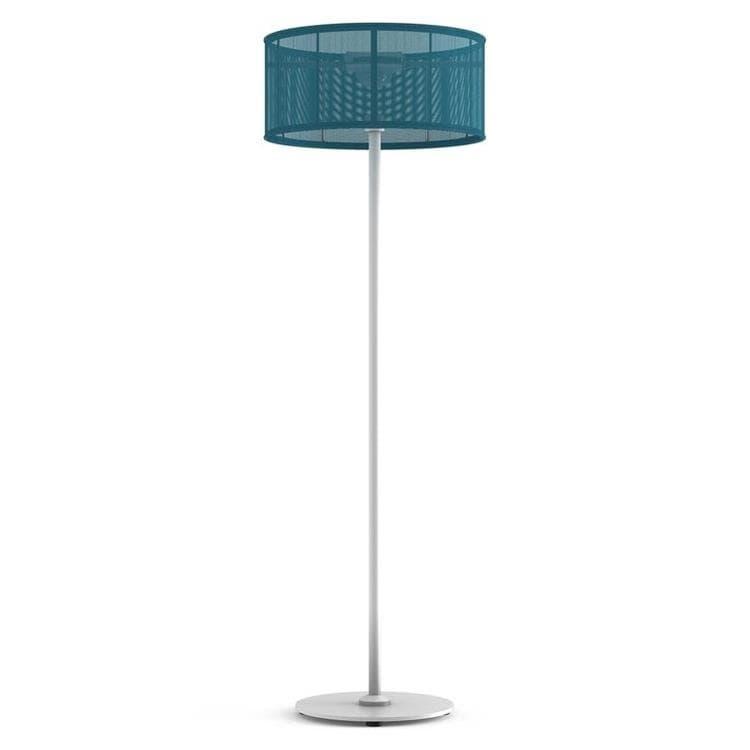 PADERE Blanc/Bleu cyan Lampadaire d'extérieur LED solaire Aluminium/Textile H170cm