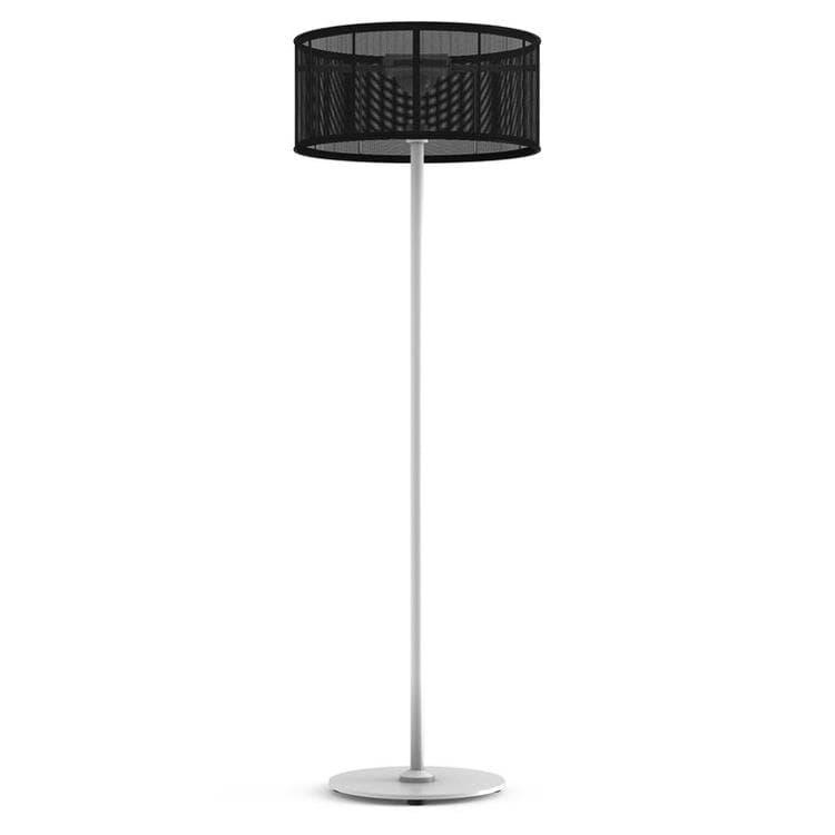 PADERE Blanc/Noir Charbon Lampadaire d'extérieur LED solaire Aluminium/Textile H170cm