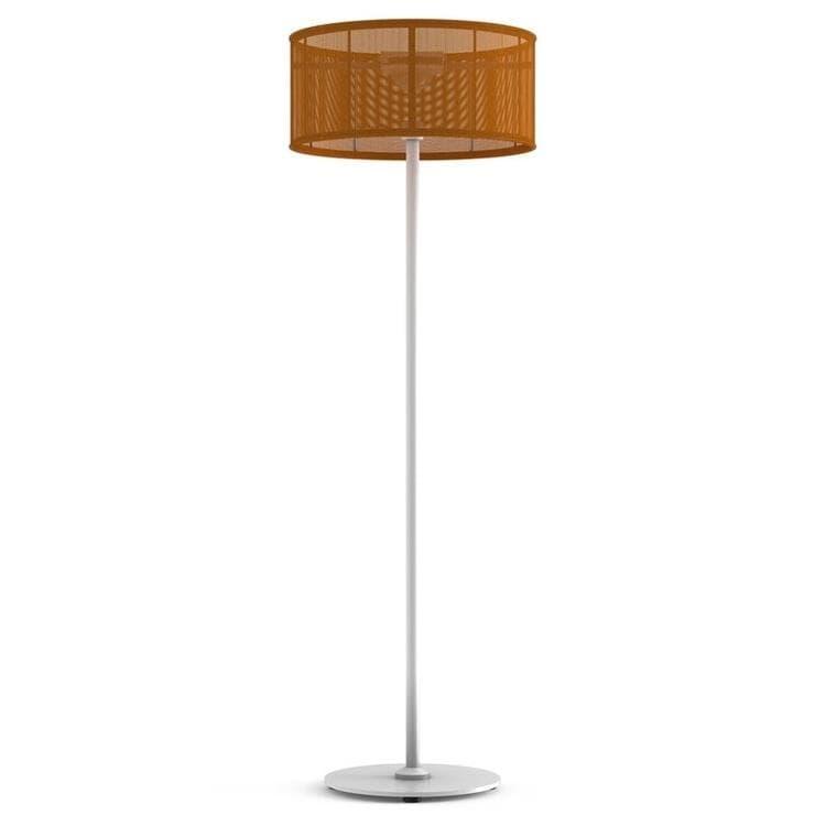 PADERE Blanc/Orange Lampadaire d'extérieur LED solaire Aluminium/Textile H170cm
