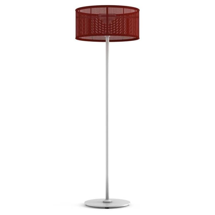 PADERE Blanc/Rouge Lampadaire d'extérieur LED solaire Aluminium/Textile H170cm