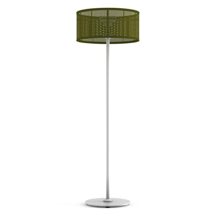 PADERE Blanc/Vert fougère Lampadaire d'extérieur LED solaire Aluminium/Textile H170cm
