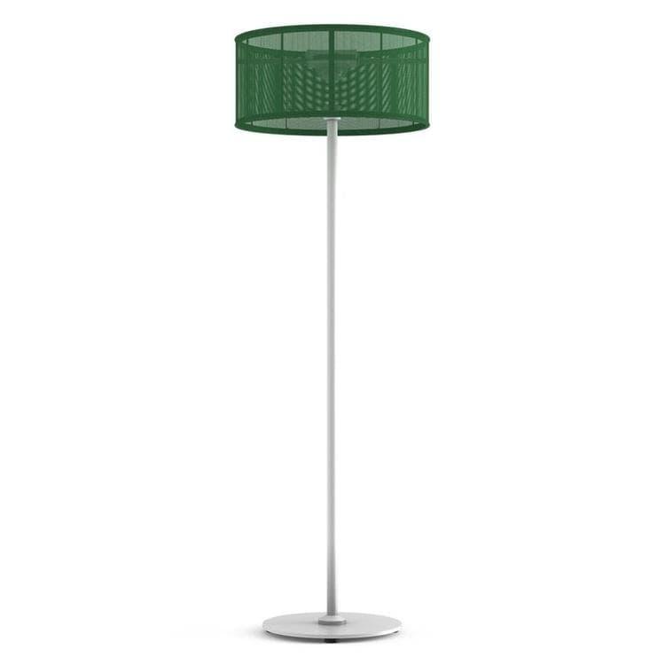 PADERE Blanc/Vert jade Lampadaire d'extérieur LED solaire Aluminium/Textile H170cm