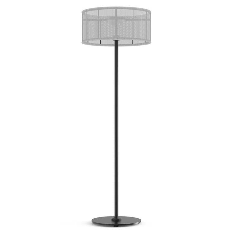 PADERE Noir Charbon/Blanc Lampadaire d'extérieur LED solaire Aluminium/Textile H170cm