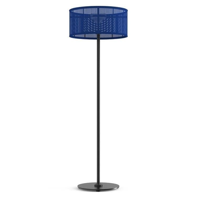 PADERE Noir Charbon/Bleu marine Lampadaire d'extérieur LED solaire Aluminium/Textile H170cm