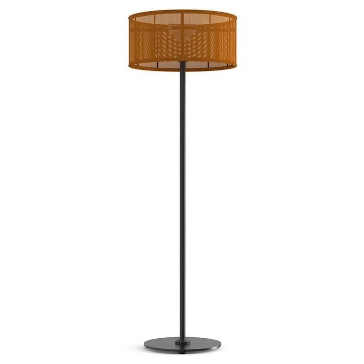 PADERE Noir Charbon/Orange Lampadaire d'extérieur LED solaire Aluminium/Textile H170cm