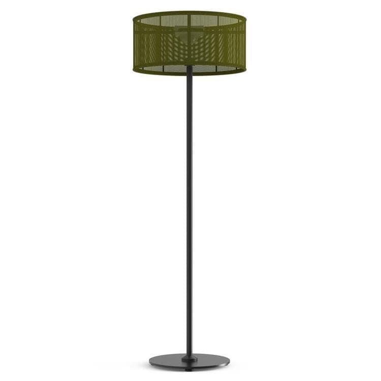 PADERE Noir Charbon/Vert fougère Lampadaire d'extérieur LED solaire Aluminium/Textile H170cm
