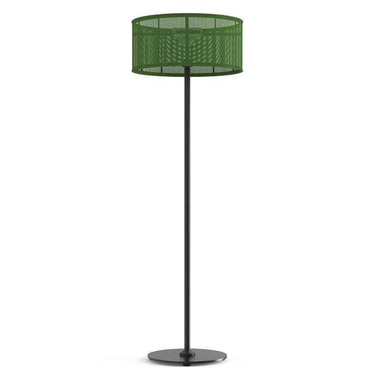 PADERE Noir Charbon/Vert printanier Lampadaire d'extérieur LED solaire Aluminium/Textile H170cm