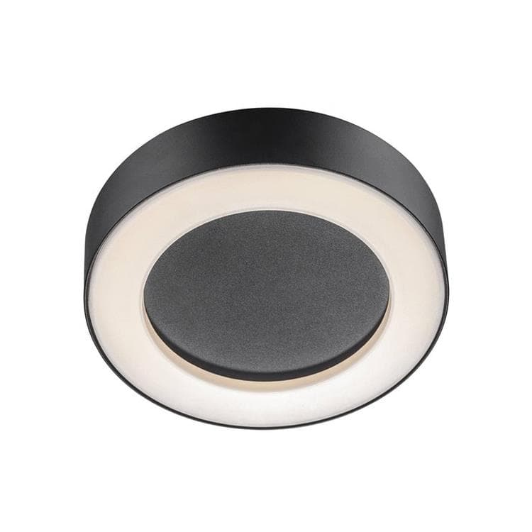 TETON Noir Plafonnier LED d'extérieur métal Ø20,2cm