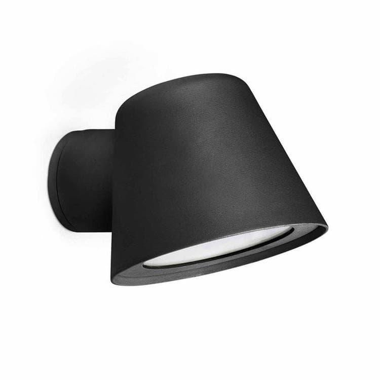 GINA Noir Applique d'extérieur Aluminium & Verre L15cm