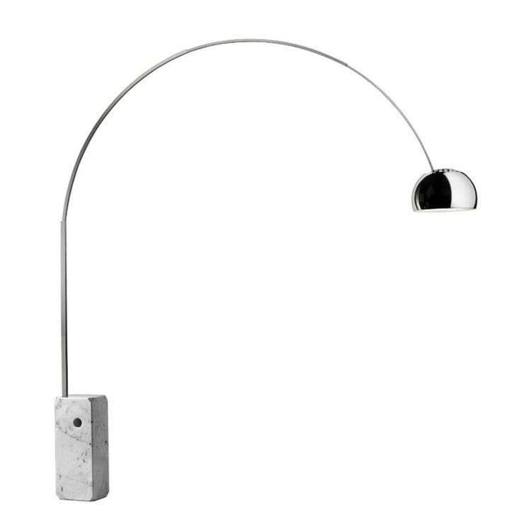 ARCO LED marbre et chrome Lampadaire Arc LED H240cm